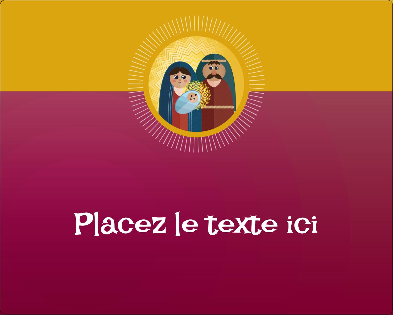 """2"""" Diameter Étiquettes rondes gaufrées - Les gabarits Enfant Jésus pour votre prochain projet des Fêtes"""