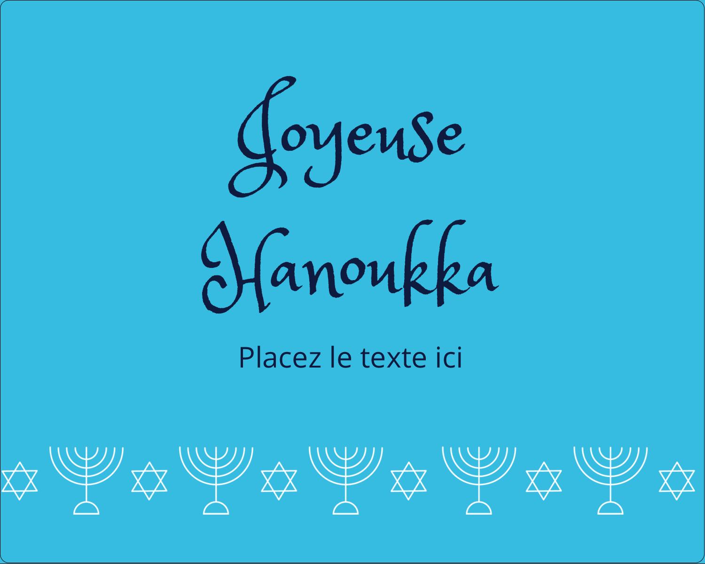 """2"""" Diameter Étiquettes rondes gaufrées - Chandelier de Hanoukka"""