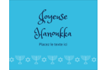 Chandelier de Hanoukka Étiquettes rondes gaufrées - gabarit prédéfini. <br/>Utilisez notre logiciel Avery Design & Print Online pour personnaliser facilement la conception.