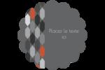 Hexagone orange Étiquettes rondes - gabarit prédéfini. <br/>Utilisez notre logiciel Avery Design & Print Online pour personnaliser facilement la conception.