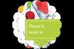 Fruits frais Étiquettes rondes - gabarit prédéfini. <br/>Utilisez notre logiciel Avery Design & Print Online pour personnaliser facilement la conception.