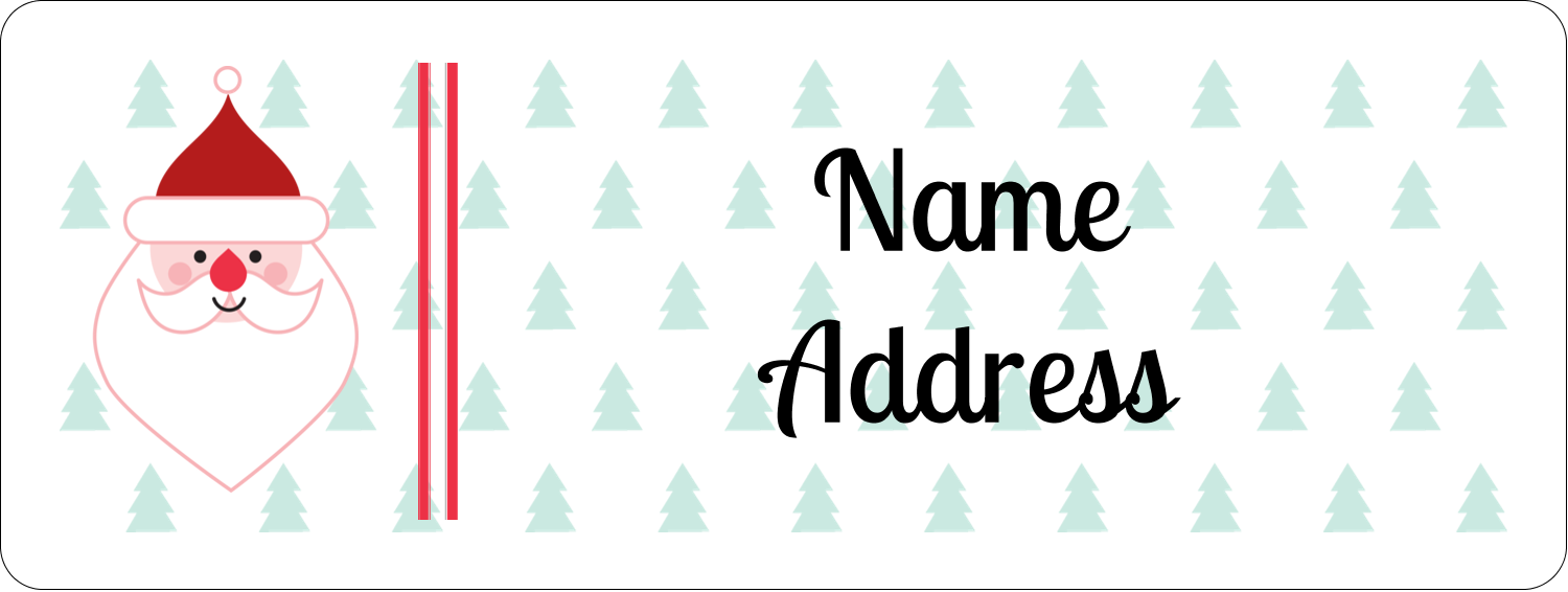"⅔"" x 1¾"" Address Label - Santa Claus"