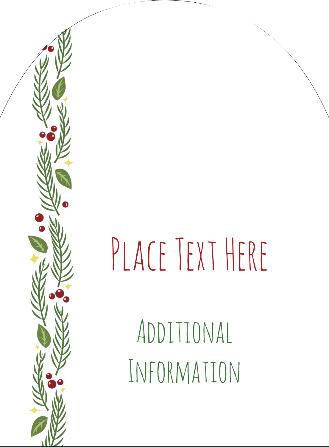 "4¾"" x 3½"" Arched Label - Garland"