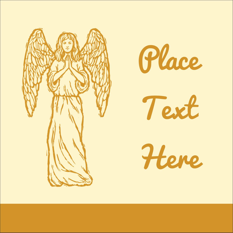 "1½"" x 1½"" Square Label - Religious Woodcut"