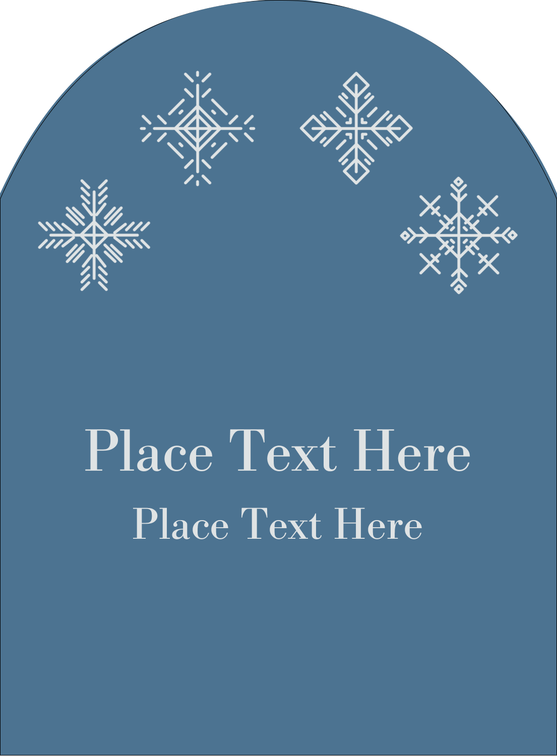 "4¾"" x 3½"" Arched Label - Snowflakes"