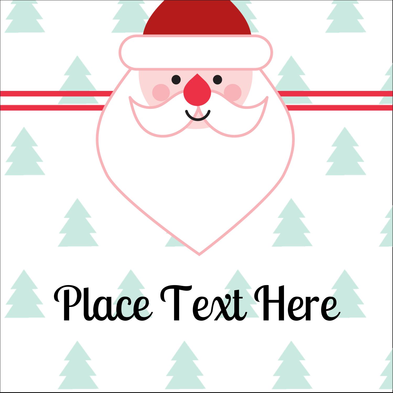 """1½"""" x 1½"""" Square Label - Santa Claus"""