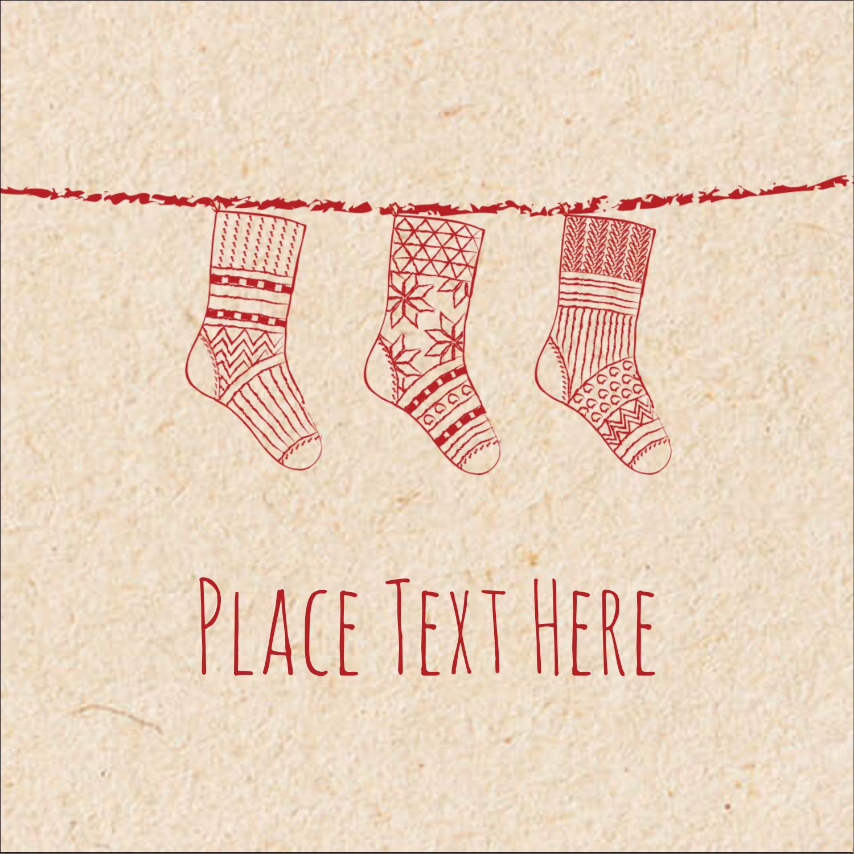 "1½"" x 1½"" Square Label - Hanging Stockings"