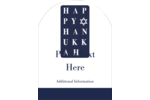 Add seasonal well wishes to custom projects with pre-designed Hanukkah Words templates.
