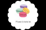 Macarons français Étiquettes rondes - gabarit prédéfini. <br/>Utilisez notre logiciel Avery Design & Print Online pour personnaliser facilement la conception.