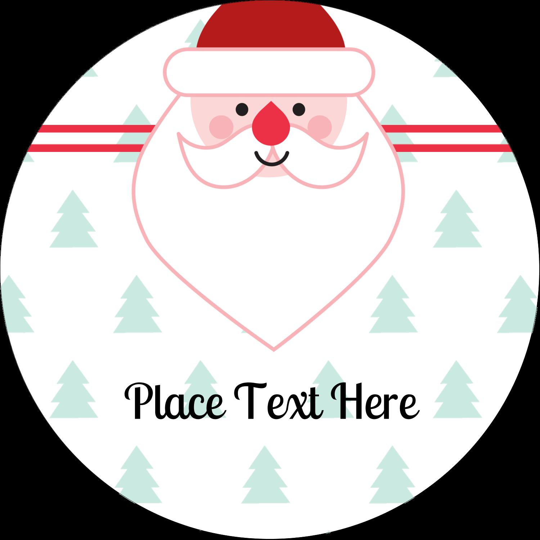 """2"""" Round Label - Santa Claus"""