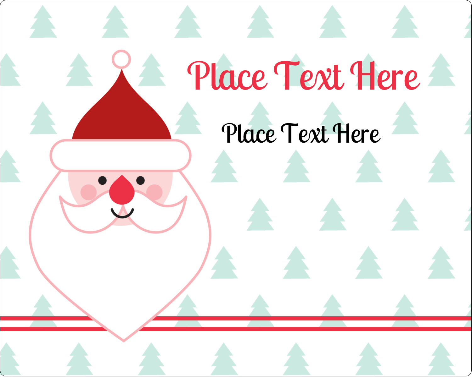 "3"" x 3¾"" Rectangular Label - Santa Claus"