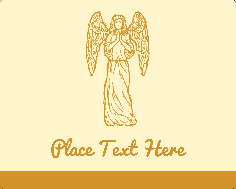 "3"" x 3¾"" Rectangular Label - Religious Woodcut"