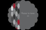 Hexagone rouge Étiquettes rondes - gabarit prédéfini. <br/>Utilisez notre logiciel Avery Design & Print Online pour personnaliser facilement la conception.
