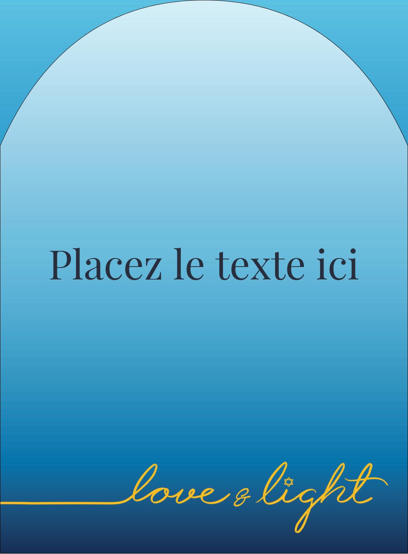 """4¾"""" x 3½"""" Étiquettes rectangulaires - Hanoukka minimaliste"""
