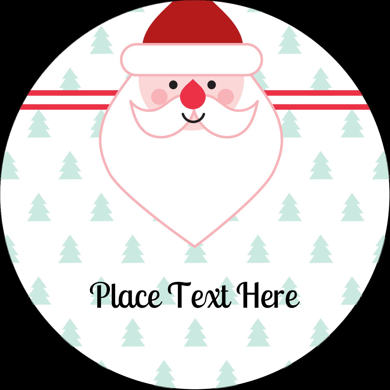 """2½"""" Round Label - Santa Claus"""