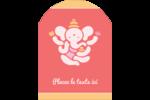 Ganesh Divali  Étiquettes rectangulaires - gabarit prédéfini. <br/>Utilisez notre logiciel Avery Design & Print Online pour personnaliser facilement la conception.