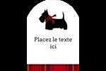 Terrier écossais Étiquettes rectangulaires - gabarit prédéfini. <br/>Utilisez notre logiciel Avery Design & Print Online pour personnaliser facilement la conception.