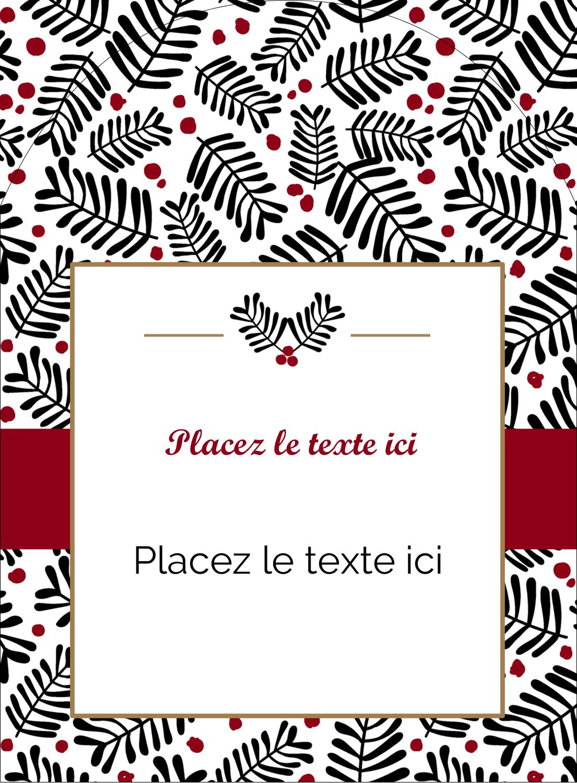 """4¾"""" x 3½"""" Étiquettes arrondies - Fleurs de Noël"""