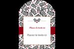 Fleurs de Noël Étiquettes arrondies - gabarit prédéfini. <br/>Utilisez notre logiciel Avery Design & Print Online pour personnaliser facilement la conception.