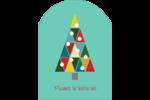 Sapin de Noël en kaléidoscope Étiquettes arrondies - gabarit prédéfini. <br/>Utilisez notre logiciel Avery Design & Print Online pour personnaliser facilement la conception.
