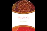 Feux d'artifice rouges du Nouvel An Étiquettes rectangulaires - gabarit prédéfini. <br/>Utilisez notre logiciel Avery Design & Print Online pour personnaliser facilement la conception.
