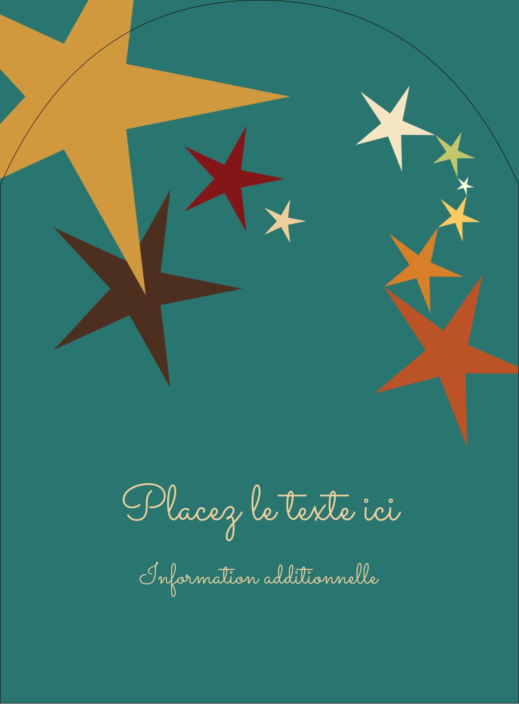 """4¾"""" x 3½"""" Étiquettes rectangulaires - Étoiles du Nouvel An"""