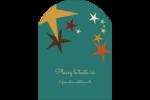 Étoiles du Nouvel An Étiquettes rectangulaires - gabarit prédéfini. <br/>Utilisez notre logiciel Avery Design & Print Online pour personnaliser facilement la conception.