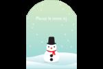Petit bonhomme de neige Étiquettes rectangulaires - gabarit prédéfini. <br/>Utilisez notre logiciel Avery Design & Print Online pour personnaliser facilement la conception.