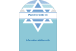 Étoile de Hanoukka Étiquettes rectangulaires - gabarit prédéfini. <br/>Utilisez notre logiciel Avery Design & Print Online pour personnaliser facilement la conception.