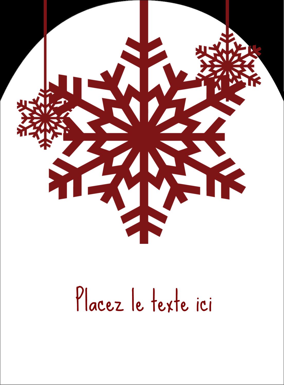 """4¾"""" x 3½"""" Étiquettes rectangulaires - Les gabarits Flocons de neige en feutre pour votre prochain projet des Fêtes"""