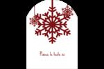 Les gabarits Flocons de neige en feutre pour votre prochain projet des Fêtes Étiquettes rectangulaires - gabarit prédéfini. <br/>Utilisez notre logiciel Avery Design & Print Online pour personnaliser facilement la conception.