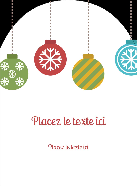 """4¾"""" x 3½"""" Étiquettes rectangulaires - Les gabarits Boules décoratives artisanales pour votre prochain projet des Fêtes"""