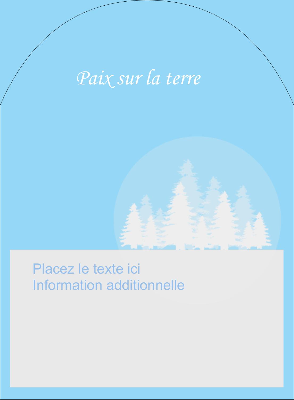 """4¾"""" x 3½"""" Étiquettes rectangulaires - Forêt bleue"""