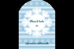 Les gabarits Flocon de neige bleu pour votre prochain projet des Fêtes Étiquettes rectangulaires - gabarit prédéfini. <br/>Utilisez notre logiciel Avery Design & Print Online pour personnaliser facilement la conception.