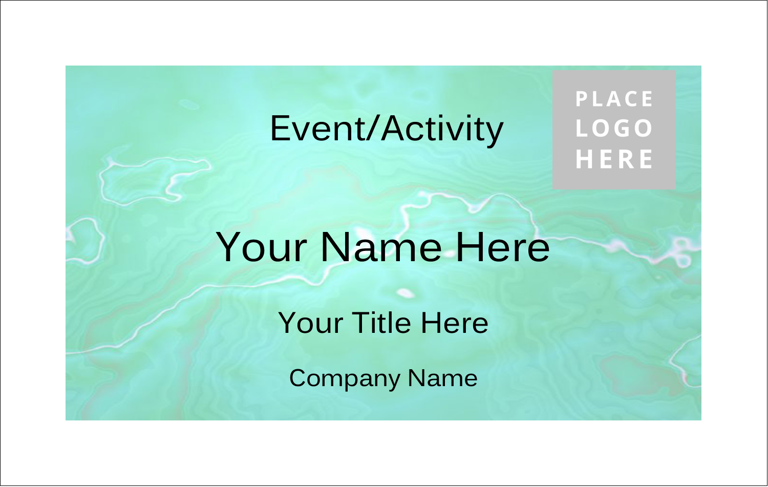2¼ x 3½ Name Tags - Agate
