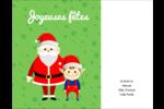 Père Noel et Henri le Lutin Carte Postale - gabarit prédéfini. <br/>Utilisez notre logiciel Avery Design & Print Online pour personnaliser facilement la conception.