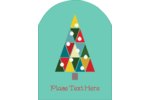 Kaleidoscope Christmas Tree Arched Label Pre-Designed Template. <br/>Customize this printable design template with our Avery Design & Print Online Software.