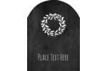 Customize personal or professional projects with pre-designed Chalkboard Wreath templates.