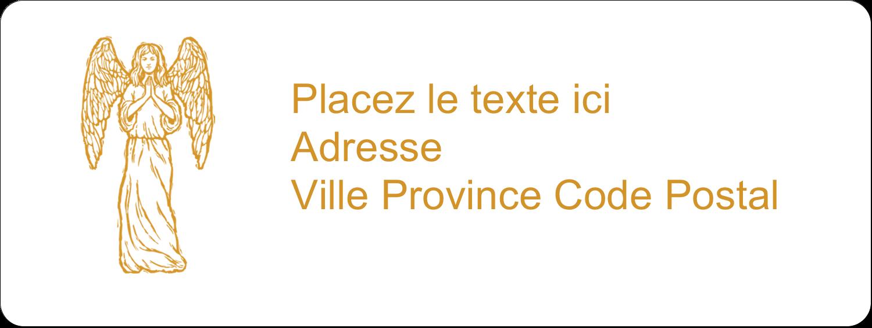 """1½"""" x 4"""" Étiquettes D'Adresse - Gravure pieuse"""