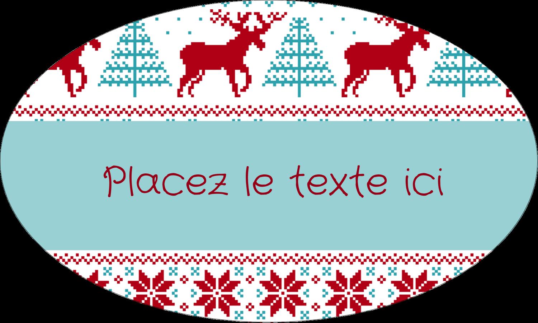 """1½"""" x 1½"""" Étiquettes carrées - Chandail de poinsettias"""
