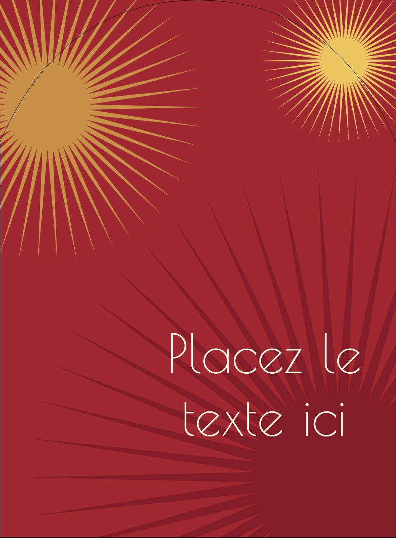 """4¾"""" x 3½"""" Étiquettes rectangulaires - Soleils du Nouvel An"""
