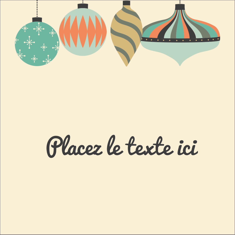"""1½"""" x 1½"""" Étiquettes carrées - Motif de décorations"""