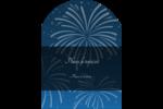 Feux d'artifice bleus du Nouvel An Étiquettes rectangulaires - gabarit prédéfini. <br/>Utilisez notre logiciel Avery Design & Print Online pour personnaliser facilement la conception.