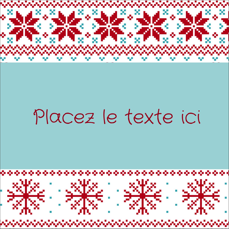 """2"""" x 2"""" Étiquettes carrées - Chandail de poinsettias"""