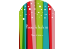 Rayures de Noël rétro Étiquettes rectangulaires - gabarit prédéfini. <br/>Utilisez notre logiciel Avery Design & Print Online pour personnaliser facilement la conception.