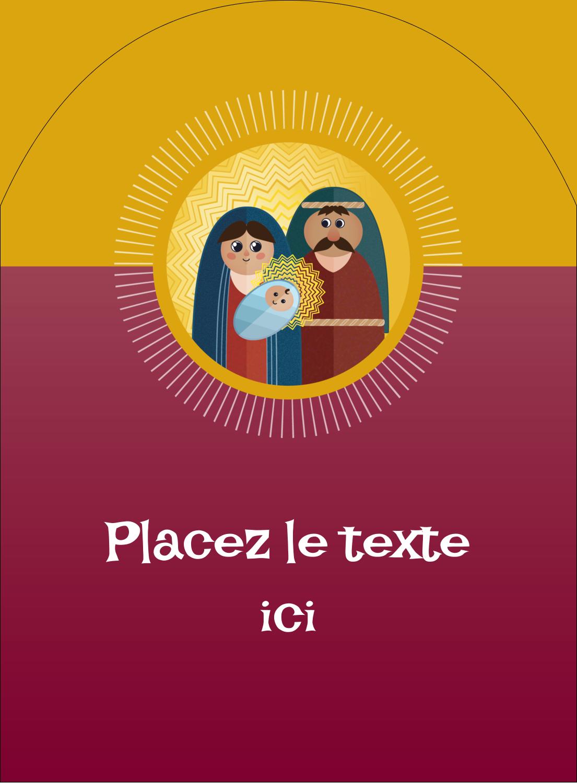 """4¾"""" x 3½"""" Étiquettes rectangulaires - Les gabarits Enfant Jésus pour votre prochain projet des Fêtes"""