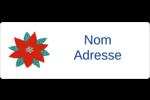Les gabarits Poinsettia pour votre prochain projet des Fêtes Étiquettes D'Adresse - gabarit prédéfini. <br/>Utilisez notre logiciel Avery Design & Print Online pour personnaliser facilement la conception.