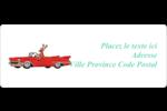 Renne en décapotable Étiquettes D'Adresse - gabarit prédéfini. <br/>Utilisez notre logiciel Avery Design & Print Online pour personnaliser facilement la conception.