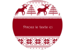 Chandail de poinsettias Étiquettes arrondies - gabarit prédéfini. <br/>Utilisez notre logiciel Avery Design & Print Online pour personnaliser facilement la conception.