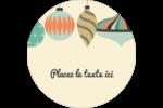 Motif de décorations Étiquettes rondes - gabarit prédéfini. <br/>Utilisez notre logiciel Avery Design & Print Online pour personnaliser facilement la conception.